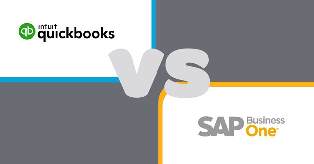 QuickBooks vs SAP Business One - A Software Comparison for SMEs