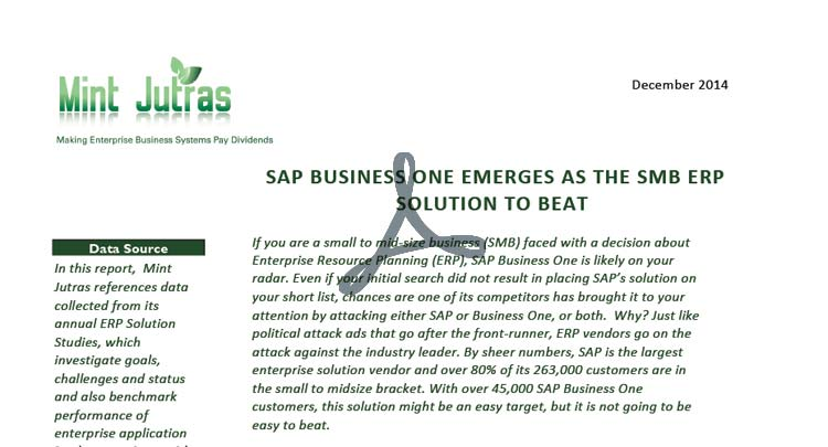 Whitepaper: SAP Business One Emerges as SMB ERP to Beat