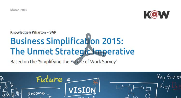Report: Business Simplification 2015 - The Unmet Strategic Imperative