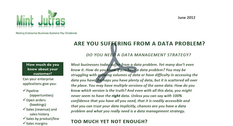 Are you Suffering from a Data Problem?