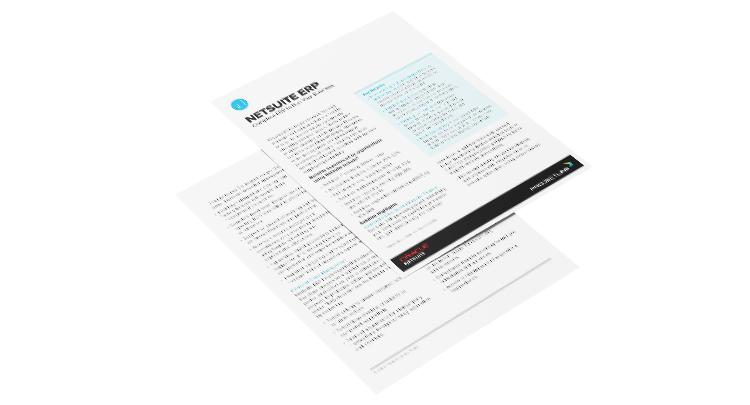 Data Sheet: NetSuite ERP