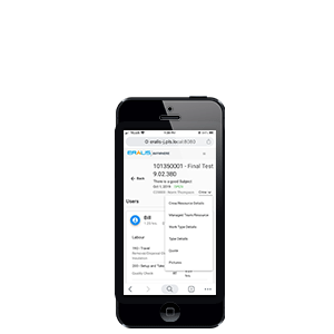SAP Business One field service mobile app