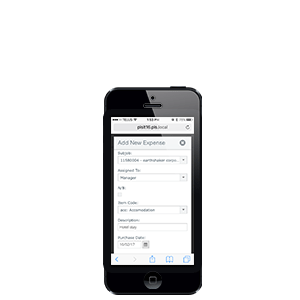 SAP Business One mobile time entry
